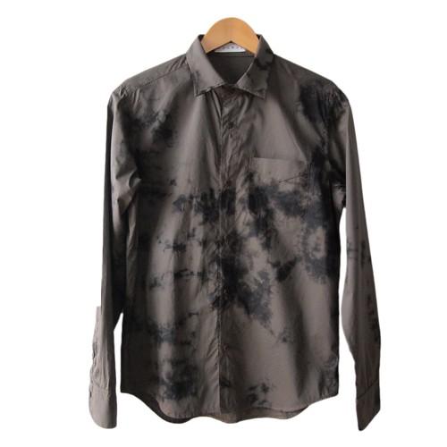 「黒霧」 日本製 黒染め シャツ Black&Brown