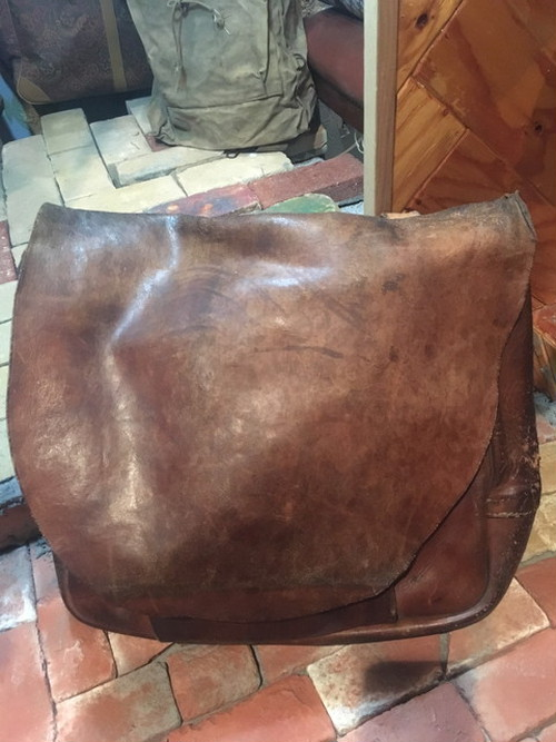 60's LEATHER US MAIL BAG