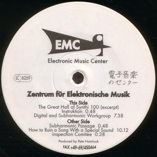 """ELECTRONIC MUSIC CENTER / Zentrum Für Elektronische Musik (12"""")"""