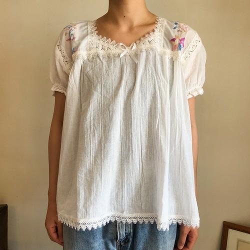 メキシコ刺繍 かぎ編み ブラウス