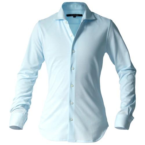 DJS-002 decollouomo メンズドレスシャツ 長袖 concorde - スカイブルー