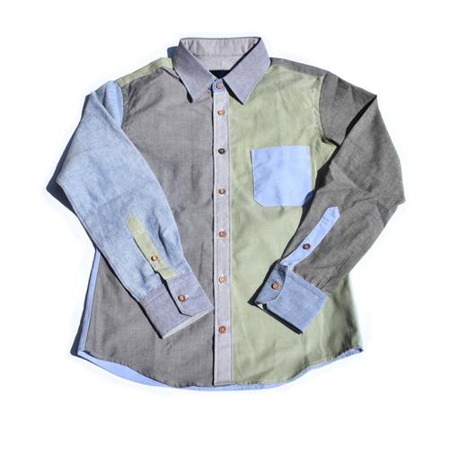 オックスフォード/シャンブレー クレイジー パネル シャツ Oxford/Chambray/Twill Cotton Shirts