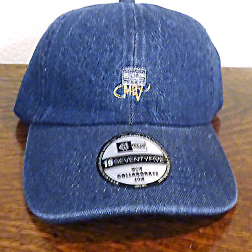 M.C.W & MDV COLLABORATE BASEBALL CAP(indigo blue)