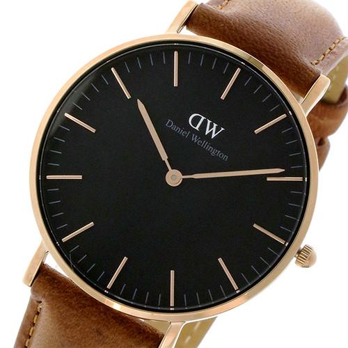 ダニエル ウェリントン クラシック ダラム/ローズ 36mm ユニセックス 腕時計 DW00100138 ブラック
