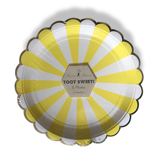 meri meri - paper plate / ペーパープレート ( STRIPE ) 8枚入り