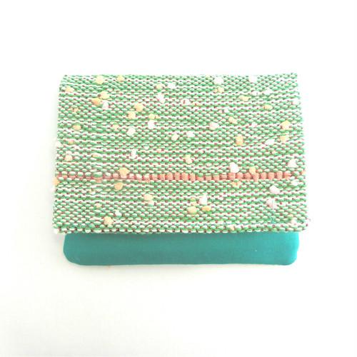 手織りのティッシュケース(グリーン)