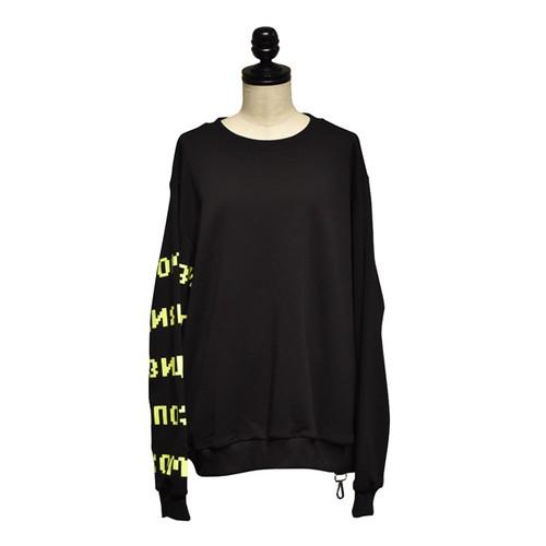 Svarka / Sweatshirt neon arm / Black