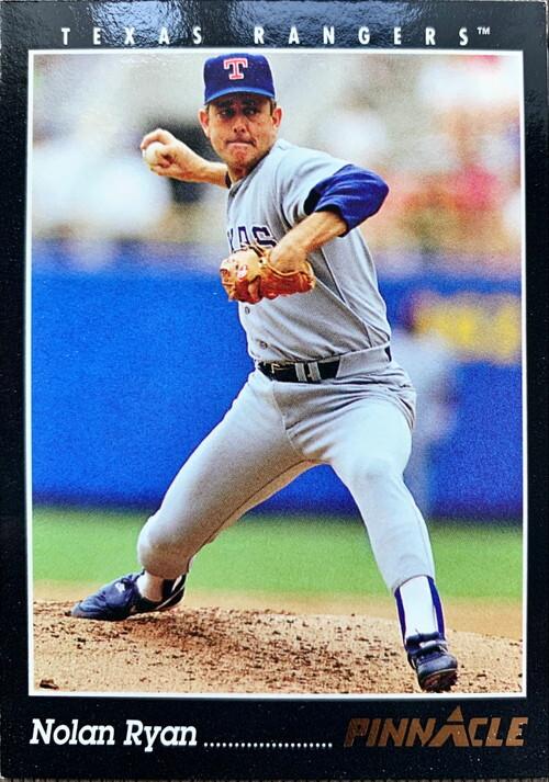 MLBカード 93PINNACLE Nolan Ryan  #075 RANGERS