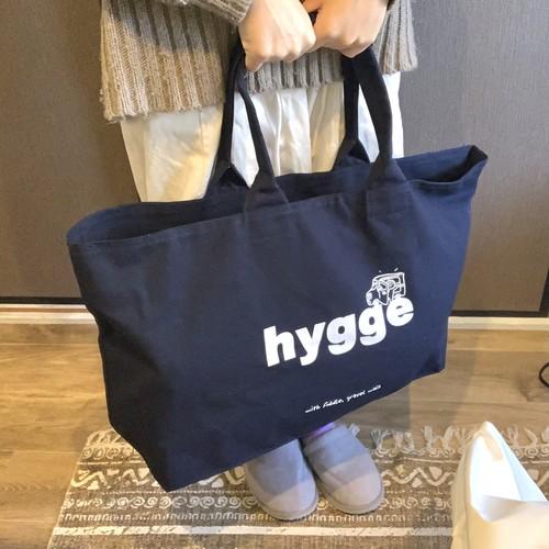 【hyggeロゴ】キャンパストートバッグ ネイビー