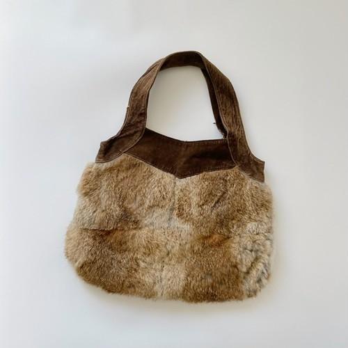【リサイヒ】おとな リアルファーとスエードのバッグ