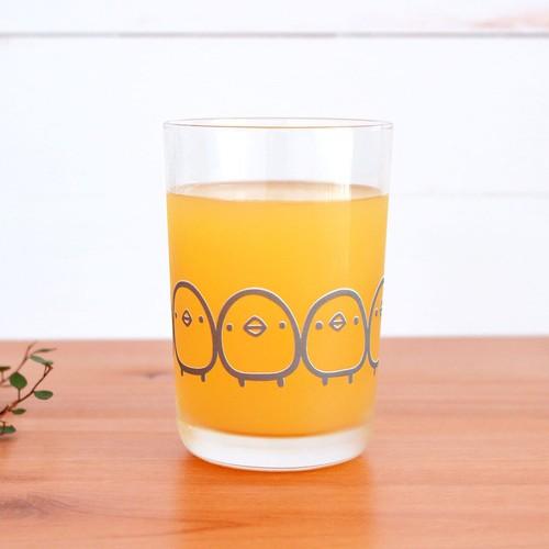 【suzuri】ガラスのコップ ひよこさんぞろぞろ