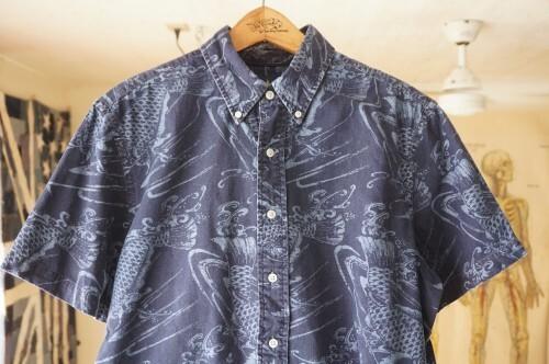 Ralph Lauren carp-print indigo s/s Shirt