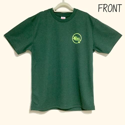 ドライTシャツ 広島ロゴ アイビーグリーン生地 Mサイズ