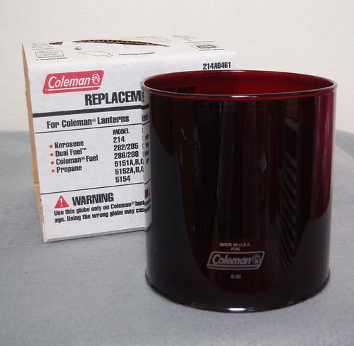 コールマン #4 ガラスグローブ レッド MADE IN USA  生産終了品 新品希少!214.286.288等に!