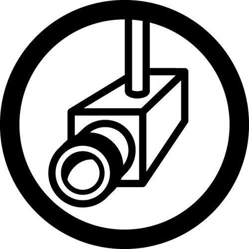 防犯カメラ設置OKマークのカッティングシートステッカー