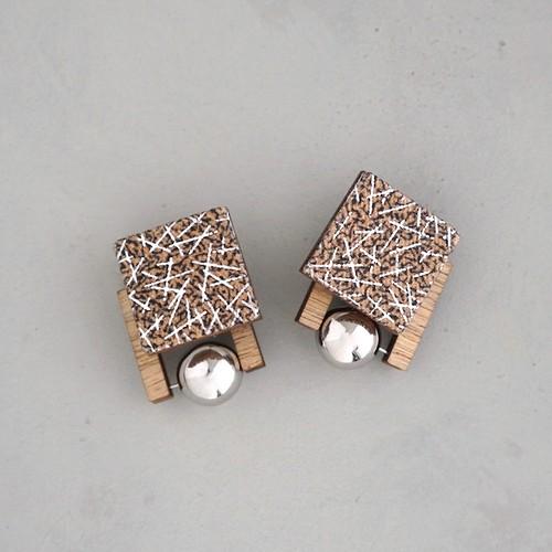 pierced earrings C-P33/earrings C-E33<silver>