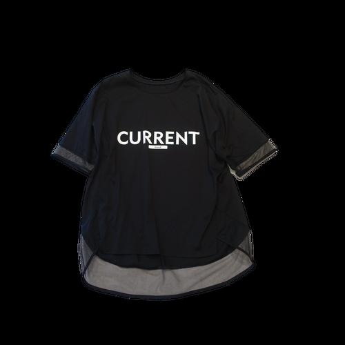 21076   チュール切り替えTシャツ