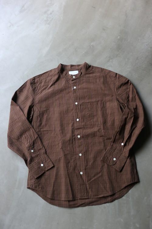 MANUAL ALPHABET / Bulging Fitチェック バンドカラーシャツ