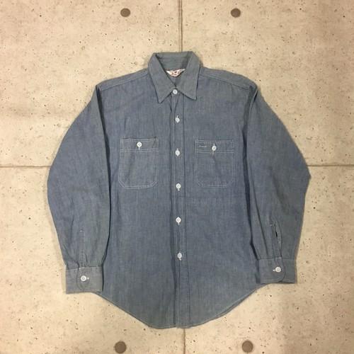 60s King Kole シャンブレーシャツ size:L