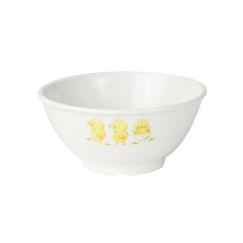 【1001-1270】強化磁器 10.5cm こども茶碗 ひよこのもり