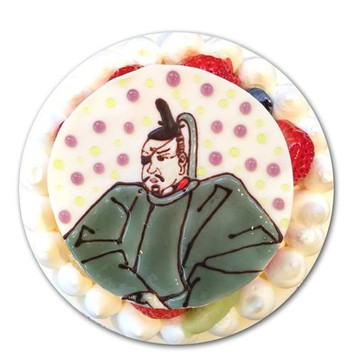 戦国肖像画ケーキ(伊達政宗)