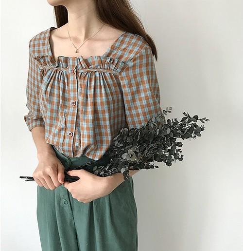fall plaid blouse 2418
