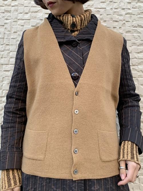 (TOYO) wool design knit vest