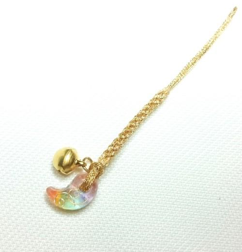 勾玉オルゴナイト根付け・虹3