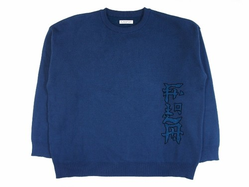 """FLA"" COTTON KNIT BLUE 18AW-FS-23"