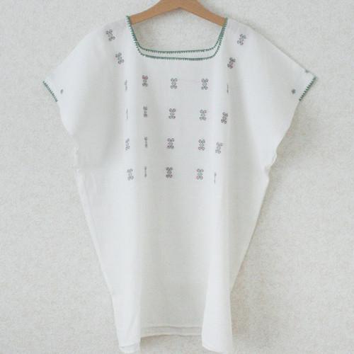 ポイント刺繍ブラウス /Lsize/259b/ MEXICO メキシコ