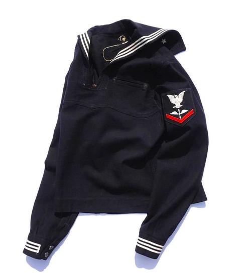 1940's〜50's [U.S.NAVY] 裏地刺繍 セーラージャケット 実寸(XS〜S位) アメリカ海軍