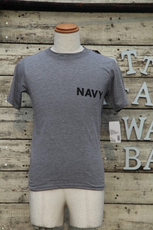 NAVY Tシャツ Sサイズ SOFFEボディgrey【USN-t-01】