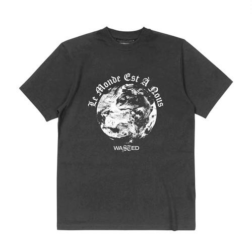 WASTED PARIS Glow World T-Shirts BLACK