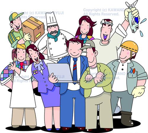 様々な職業をもつ働く人々_.aiデータ(ベクター)