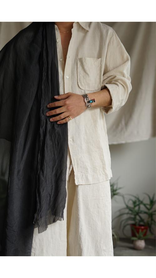 <STYLING> ⇨ Vincent Jalbert - Full Vintage Linen Shirt (natural)