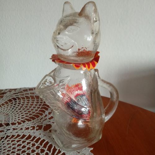 WMF ガラスの猫 ポット 新品未使用 ドイツ ヴィンテージ