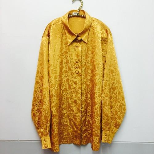 yellowgold satine blouse