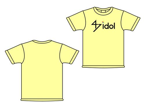 47idol 公式Tシャツ【ライトイエロー・ロゴ大】
