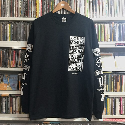 PICTURE MOUSE 2018 L/S Tsh (ブラック)
