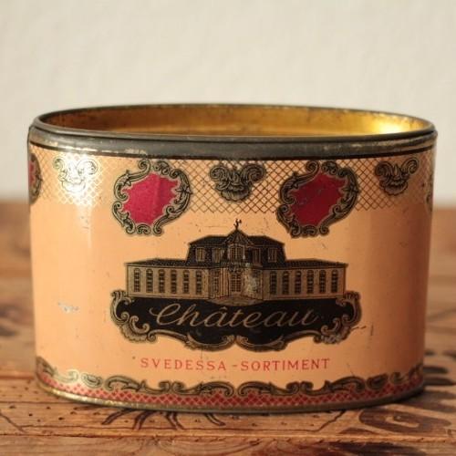 ドイツ ヴィンテージ Château Svedessa Sortiment コーヒー ティン缶/tin缶