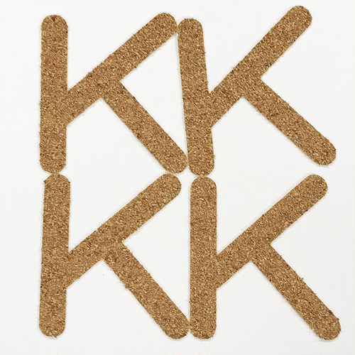 切り文字 A&Cペーパー コルク 粘着付 アルファベット「K」