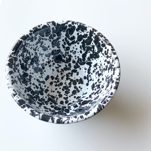 "CROW CANYON HOME  ""SMALL FOOTED BOWL BLACK"" φ13cm"