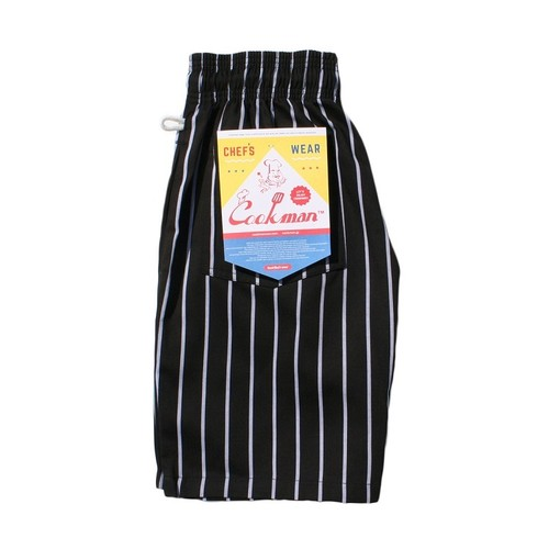 COOKMAN CHEF SHORT PANTS 「STRIPE」/ BLACK