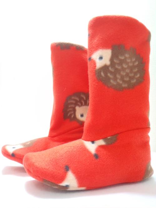 ブーツ型ルームシューズ(ナミハリネズミ)