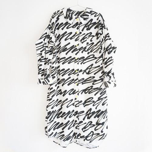 H/W POET'S COLLAR LONG SHIRT / WOMEN