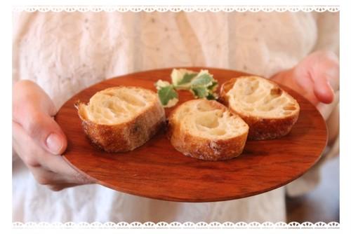 サクラのパン皿*木の器(サイズ小)