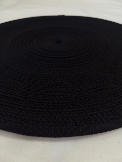 PP 1.5mm厚x10(9.5)mm幅 黒 50m巻