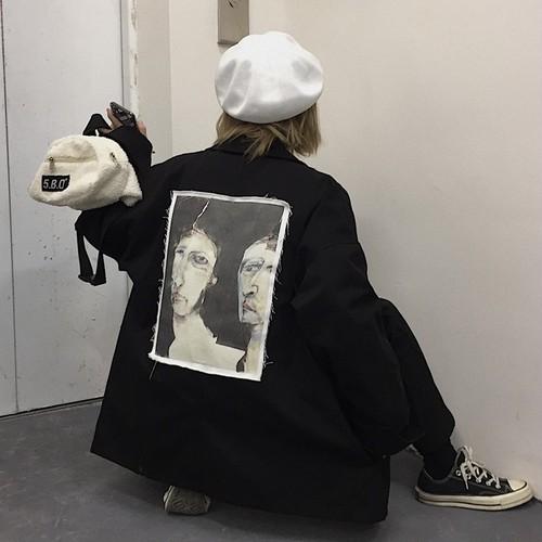 【アウター】カジュアルプリント長袖ジャケット23865714