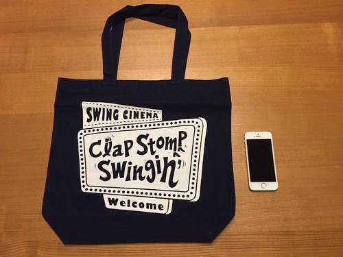 「swing cinema」トートーバック ネイビー