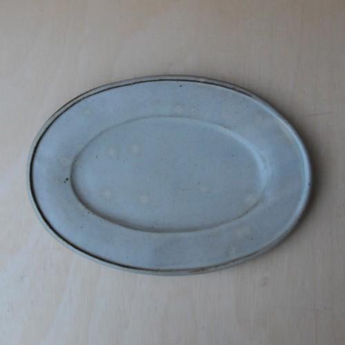 笠原良子 地釉 楕円皿(中)